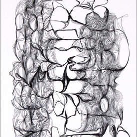 """""""Nest 452"""", 2008.  Etching, edition of 20. Image: 20"""" x 16"""", paper: 25"""" x 21""""."""