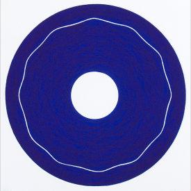 """Iris/1"", 2000.  Etching, edition of 20. Image: 10"" diameter, paper: 11"" x 11""."