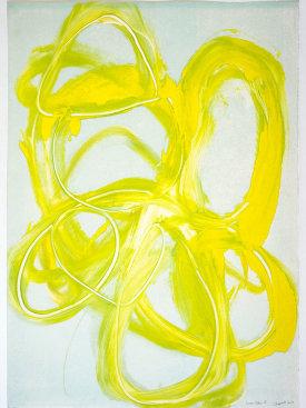 """""""Lemon Yellow I"""", 2017. Monotype, 29 1/2"""" x 21""""."""