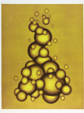 """Orb Cluster 1 (yellow/brown)"", 2003.  Photogravure and relief. Image: 28"" x 22 ¼"", paper: 35"" x 29 ¼"". Edition of 6."