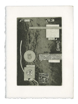 """""""Love Letter to Home I"""", 2020. Etching and aquatint, 7.5"""" x 5.5"""". Edition of 4."""