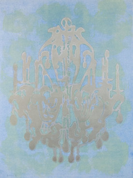 """Rococo 8"", 2016. Monoprint on Arches Cover paper. 42 ½"" x 31 ¾""."