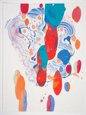 """Catherine Howe: """"T.F. #2"""", 2020. Monotype, 30"""" x 22""""."""