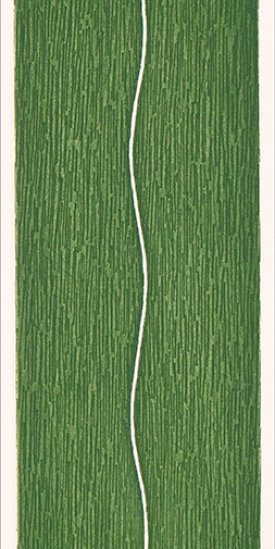 """""""Slip/4"""", 1998. Etching, edition of 20. Image: 10"""" x 3"""", paper: 14"""" x 9""""."""