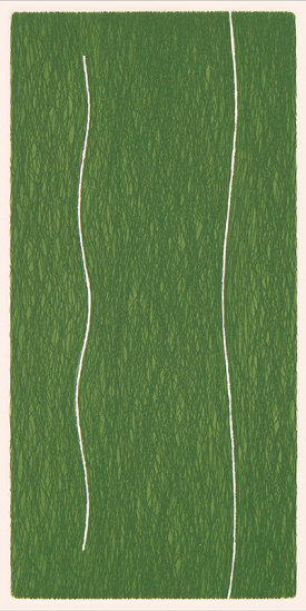 """""""Slip/5"""", 1998. Etching, edition of 20. Image: 9"""" x 4 ½"""""""", paper: 14"""" x 9""""."""