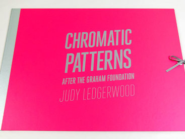 "Portfolio: ""Chromatic Patterns After The Graham Foundation"", 2014. 3 prints by Judy Ledgerwood and a poem by John Yau."