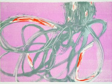 """""""Premise I"""", 2017. Monotype, 21"""" x 29 1/2""""."""