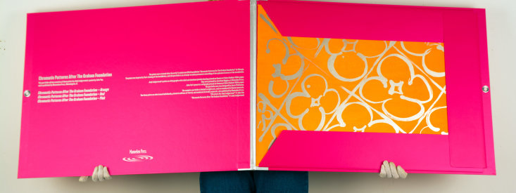 """Deluxe edition portfolio: """"Chromatic Patterns After the Graham Foundation"""", 2014 (open view)."""