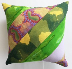 "Heart Love Green Polka dots, 8"" square small art pillow, available for $30"