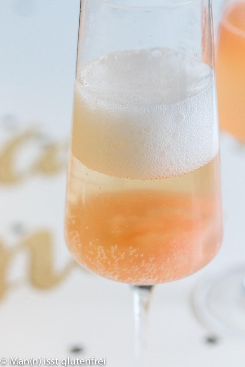 Nahaufnahme Champagnerglas