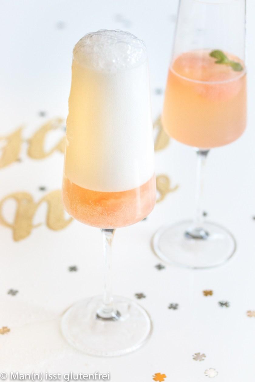 Champagner läuft über