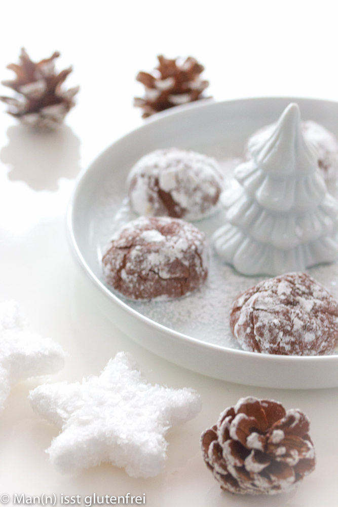 Schokoladen-Plätzchen-Sterne