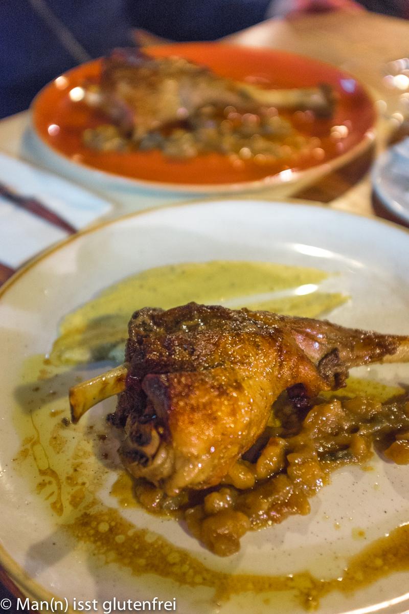 Restaurant Maho glutenfrei Lammhaxe