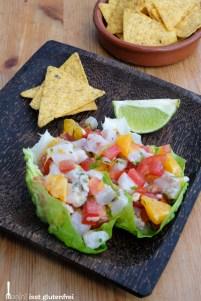 Ceviche mit glutenfreien Tacos