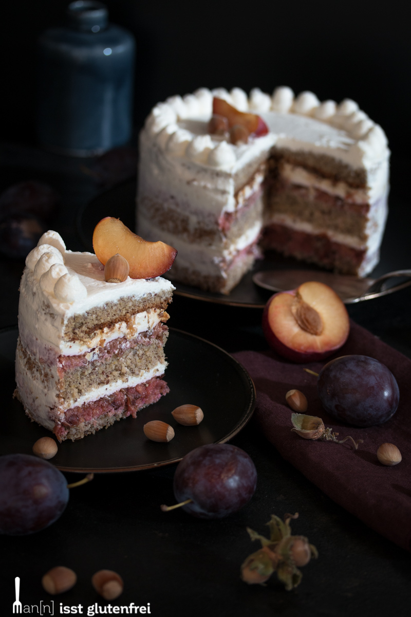 Haselnuss Pflaumen Torte – glutenfrei und laktosefrei