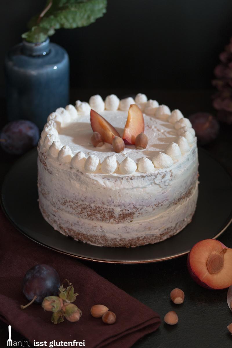 Haselnuss Pflaumen Torte