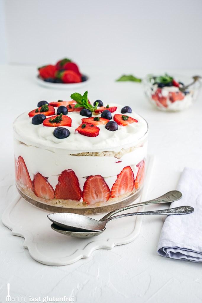 Erdbeertrifle- glutenfrei