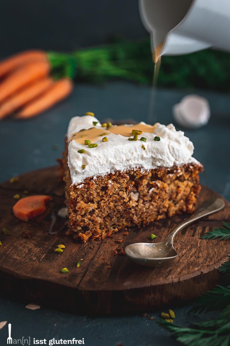 Möhrenkuchen glutenfrei und laktosefrei