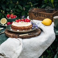 Low-Carb Kokos Lemon Cheesecake