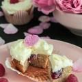 Himbeer Rosen Cupcakes - glutenfrei und laktosefrei