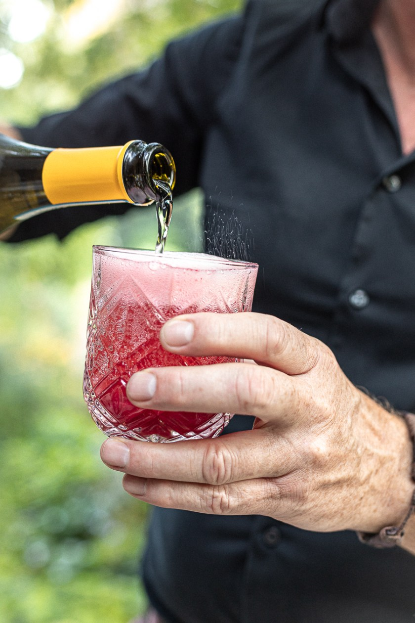 Fruchtiger Himbeere Prosecco Longdrink