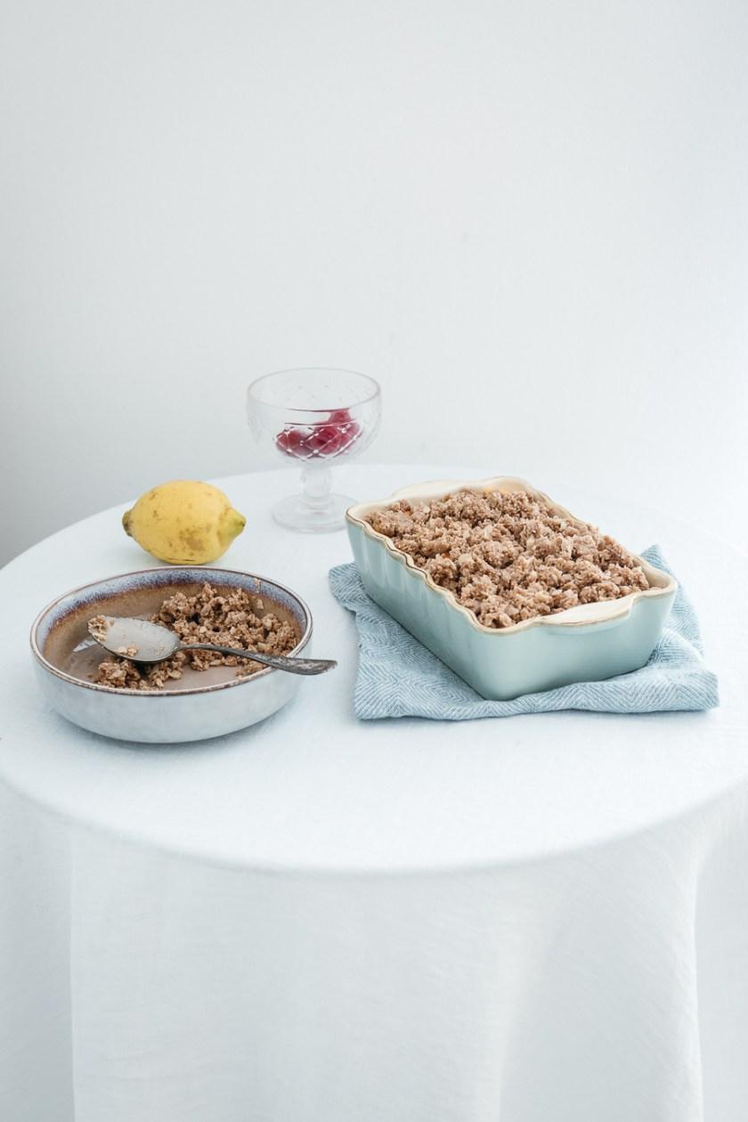 Nektarinen Crumble – glutenfrei und laktosefrei