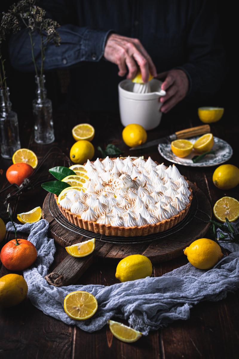 Zitronen Baiser Tarte