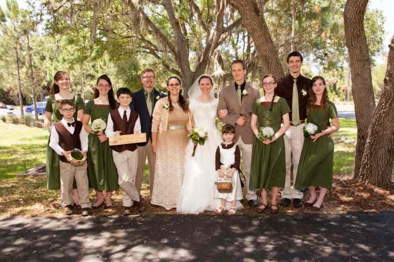 Robb Mann's family, daughter's wedding, Port Charlotte, Mann Family