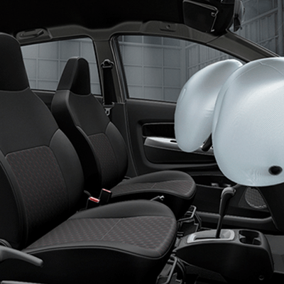 2 Airbags   Sistema de doble airbag SRS para el piloto y copiloto.