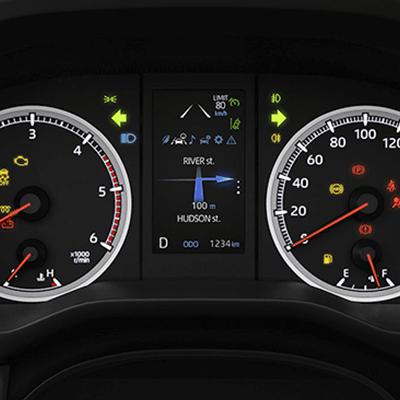 Panel multi-información de 4.2''.   Desde su pantalla TFT (Thin Film Transistor) a color de 4.2'', podrá acceder a todas las opciones que le brinda su nueva HIACE Commuter (disponible según versión).