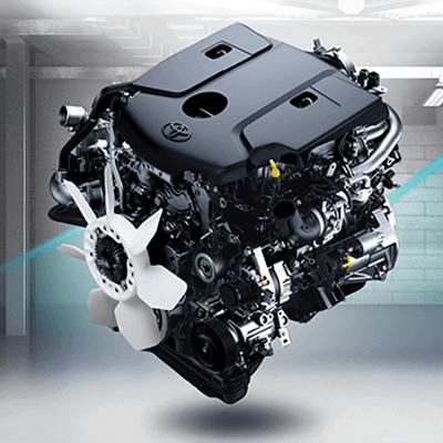 Nueva motorización 1GD.   Equipada con un motor 1GD de 2.8 litros con turbocompresor de geometría variable e intercooler para un excelente desempeño en todo el rango de conducción, un extraordinario nivel de insonorización y un bajo consumo de combustible.