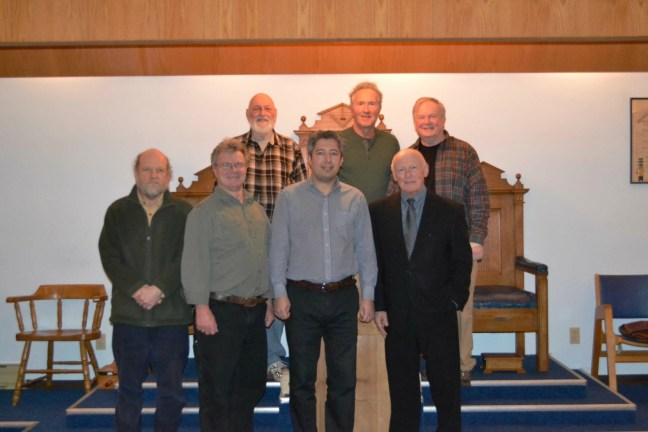 Members of Manoah Lodge No. 141 with Visiting Brethren from Ontario, February 2018