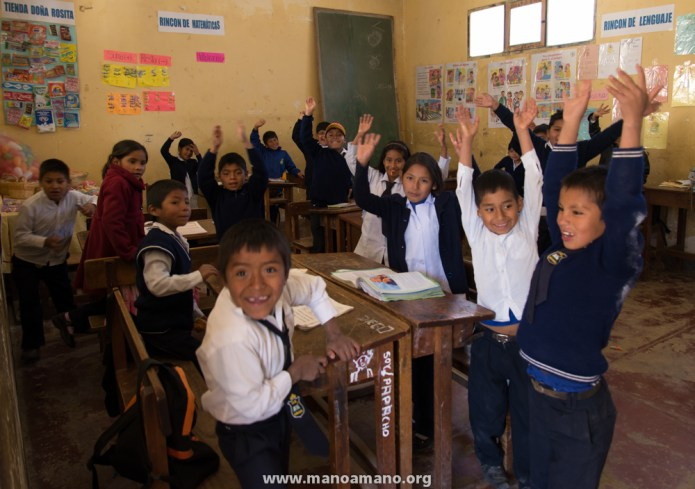 School kids in Arani, Bolivia, where we piloted a teacher exchange program with teachers from Minnesota this summer.