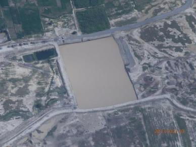 Aerial view of Jusku Molle resrvoir.