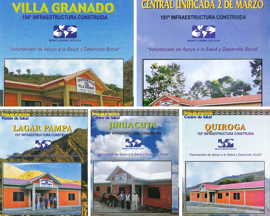 Inauguration brochures for the 5 new clinics built in 2015.