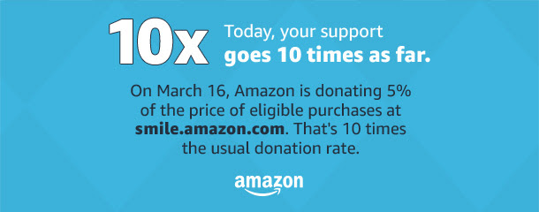 Shop Amazon Smile Today and Donate 5% to Mano Mano