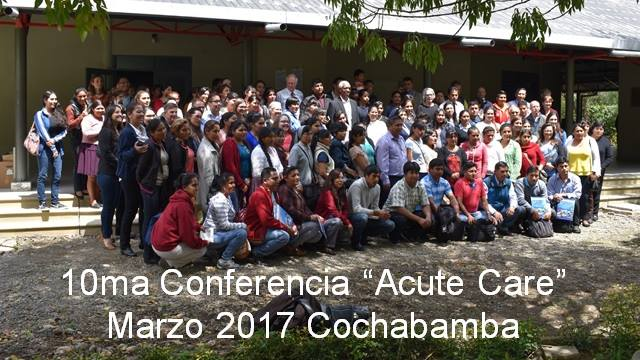 MELA volunteers, Mano a Mano Bolivia staff, and Acute Care attendees at the 10th Course on March 28-30, 2017 in Cochabamba, Bolivia.
