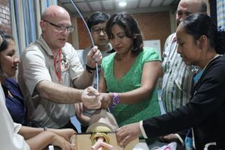 A continuing health education course held earlier this year at Mano a Mano Bolivia's office in Cochabamba, Bolivia.