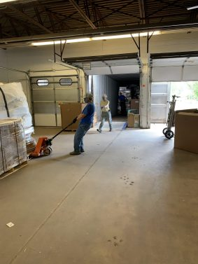 Loading containers for shipment from Minnesota to Bolivia in June. We need help getting the supplies we have ready for our next shipment in 2 weeks.
