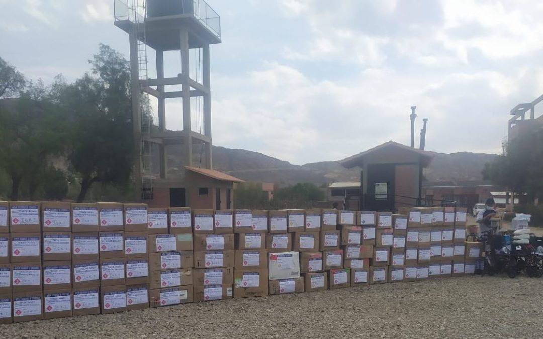Donating Medical Supplies to Instituto Gastroenterólogico Boliviano Japonés de Cochabamba