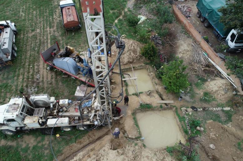 Drilling a deep water well in Pucara, Bolivia provides 600 people with clean drinking water.