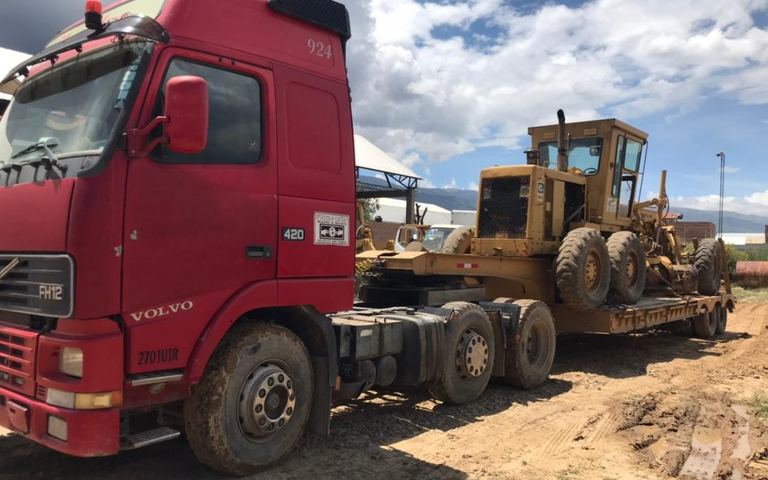 Transporting Heavy Equipment in Bolivia Takes Hard Work (and Many Repairs)