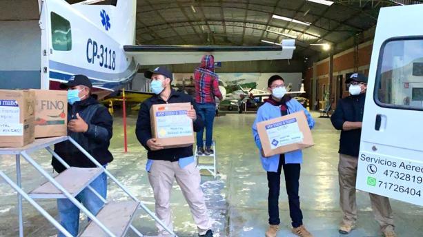 Loading Mano a Mano's Cessna Caravan at our hangar at the Jorge Wilstermann Cochabamba Airport