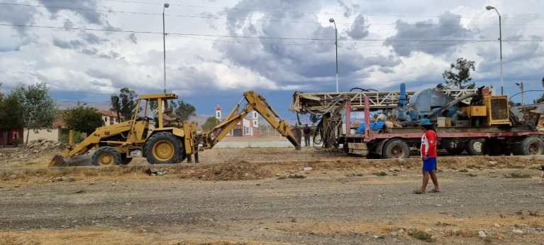 Mano a Mano equipment at the Pampa Grande well site