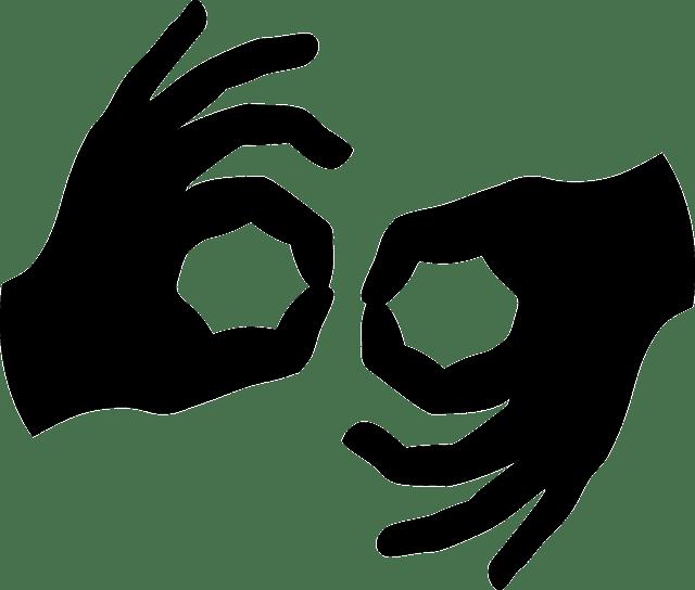 ASL interpreting icon