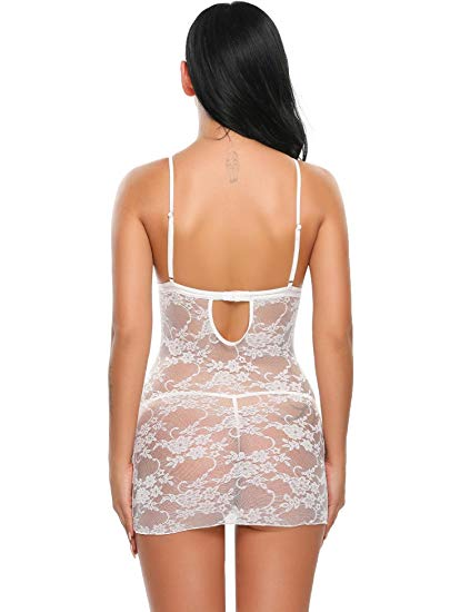 Lingerie Lace Strap white back