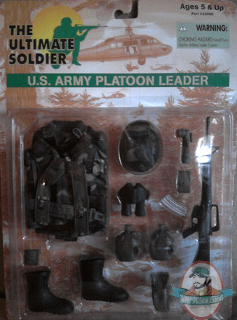 The Ultimate Soldier 16 Us Army Platoon Leader By 21st Century Toys Man Of Action Figures