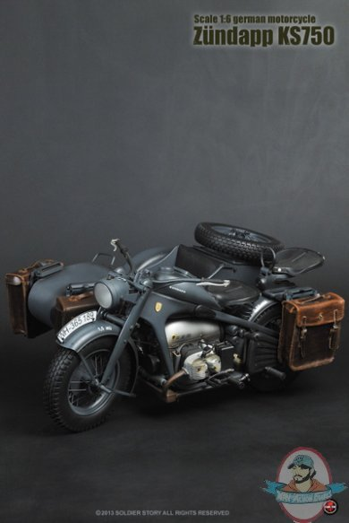 16 Scale WWII German Motorcycle Zundapp KS750 By Soldier Story Man Of Action Figures