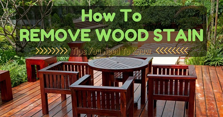 methods to remove wood stain
