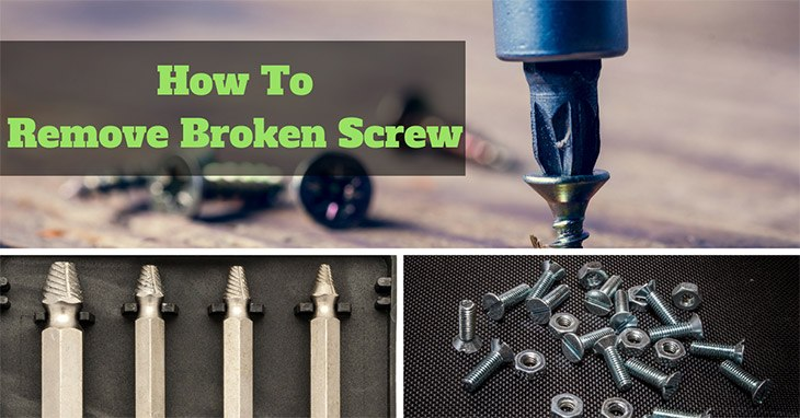Guides to remove broken screw
